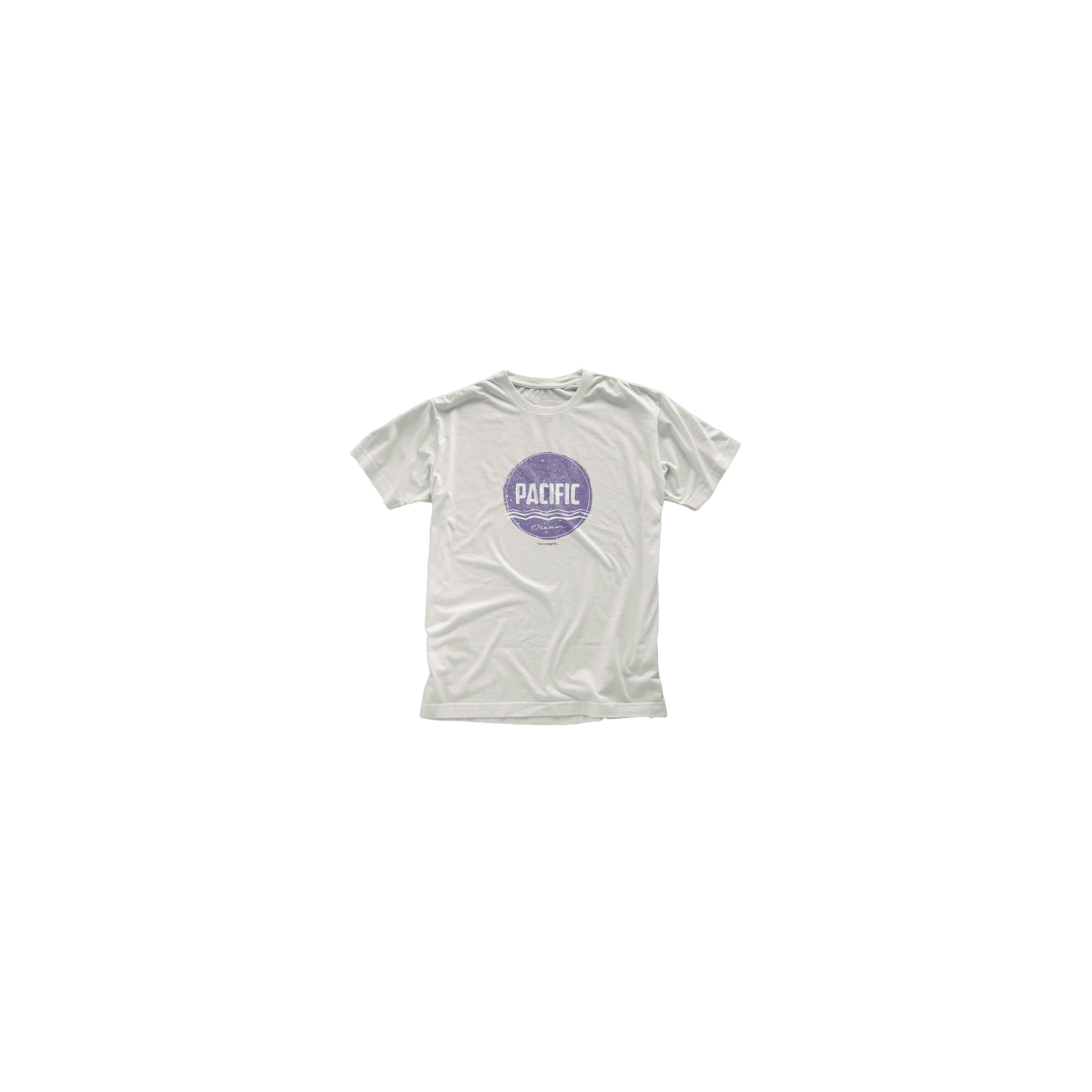 T-Shirt Silk Pacific Off White Pineapple