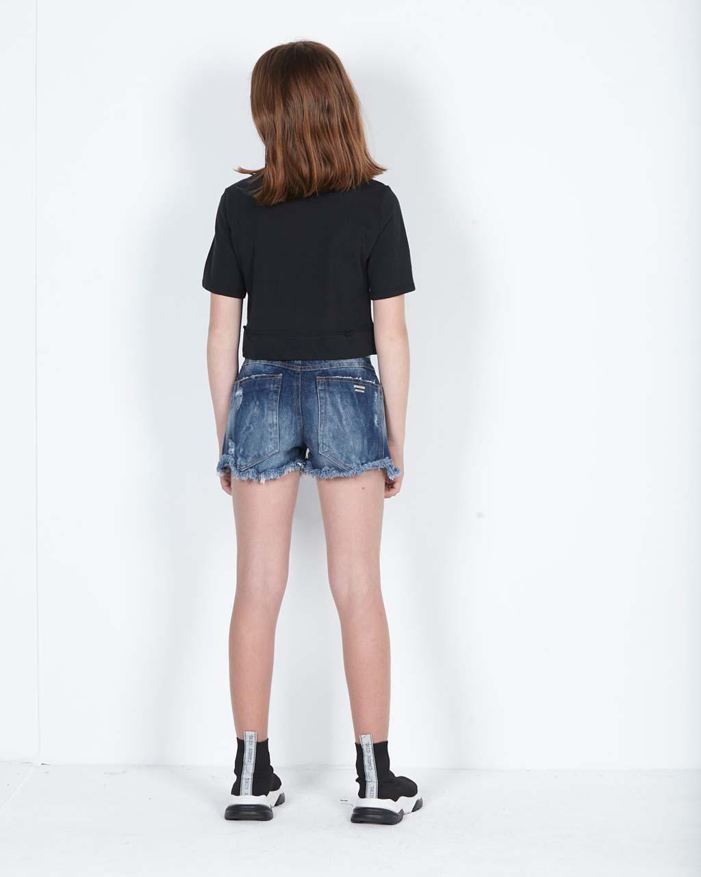 T-Shirt Teen Beija Cós Dream Preta