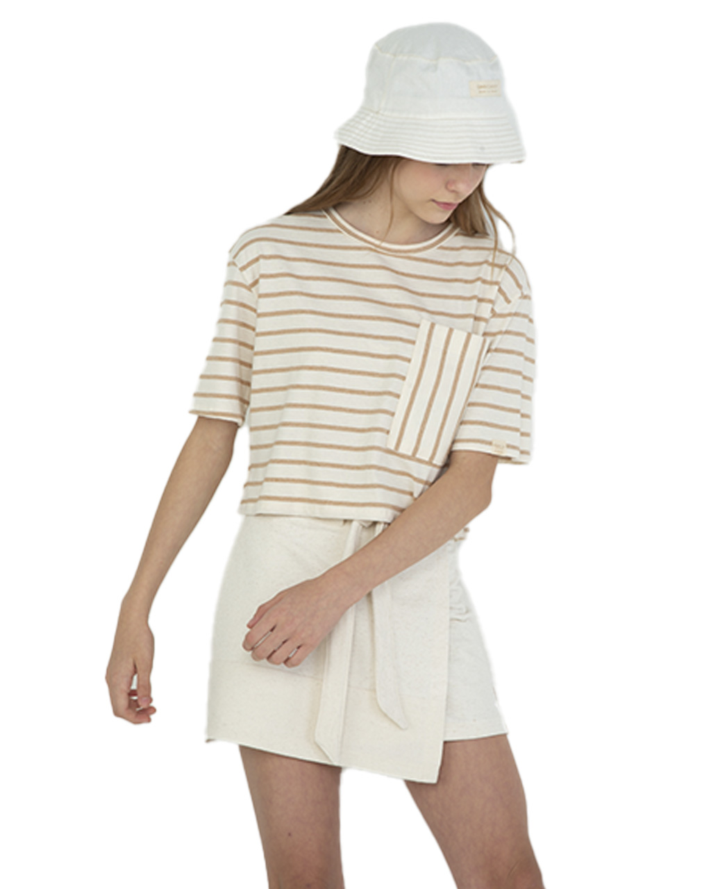 T-Shirt Teen Listrada Cropped Dimy Candy