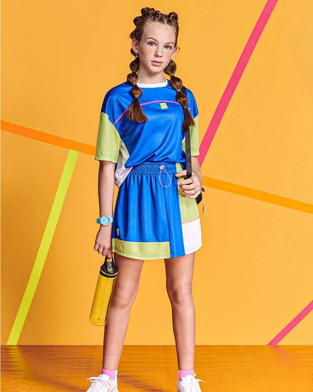 T-Shirt Teen Recortes Tricolor I Am