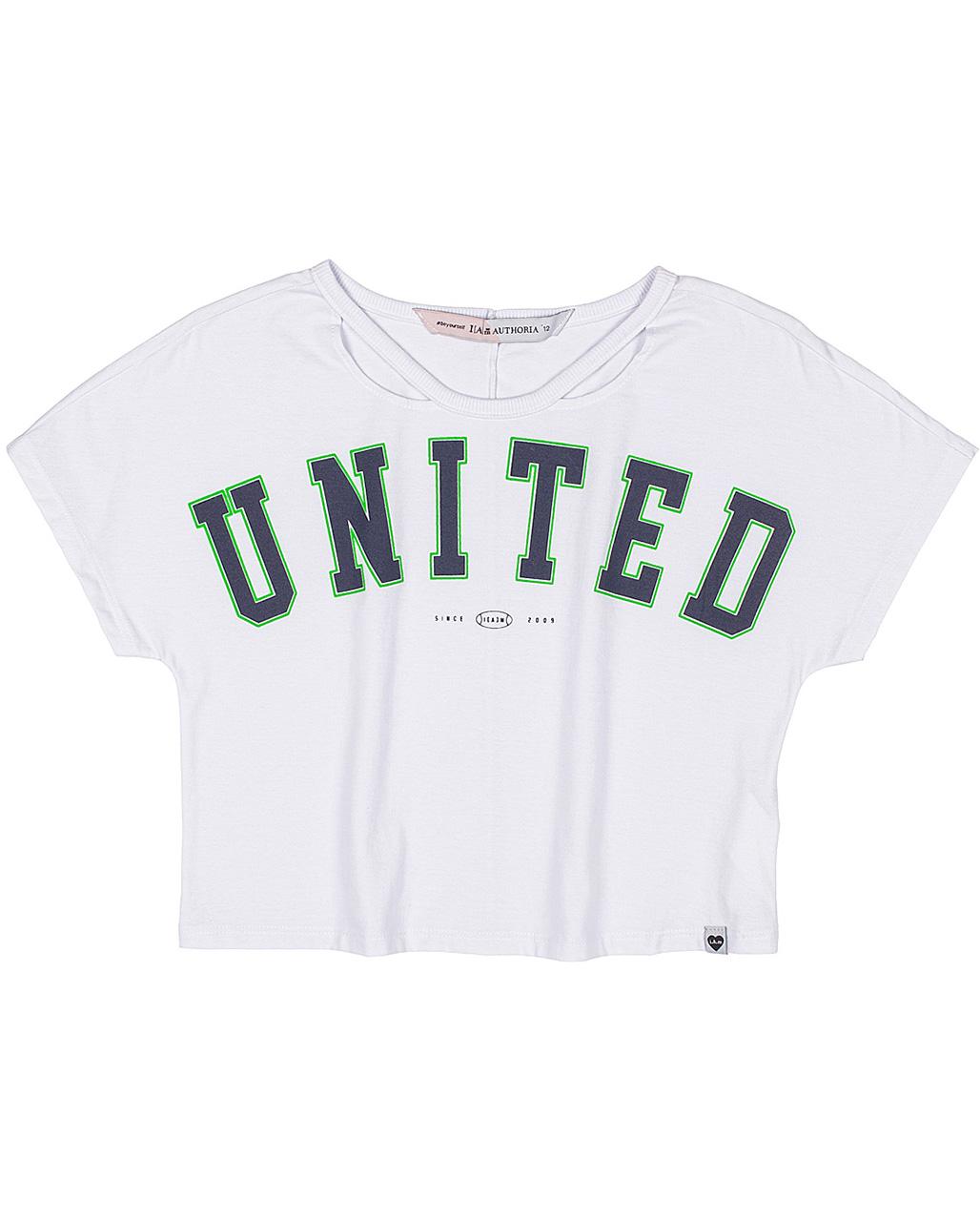 T-Shirt Teen United Off White I Am