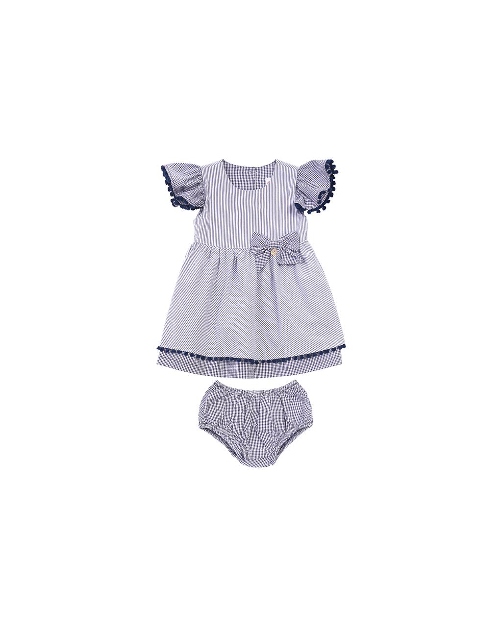 Vestido Bebê Listrado Precoce