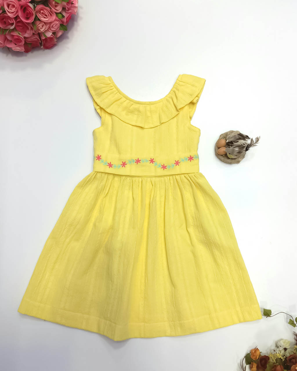 Vestido Infantil Amarelo Olivia Lumilu