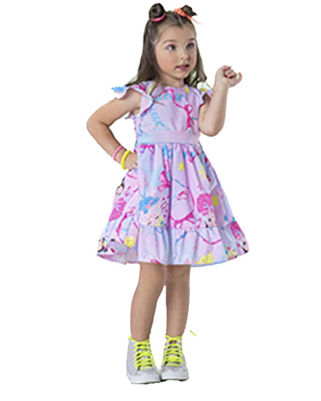Vestido Infantil  Bailarina com Cinto Málagah