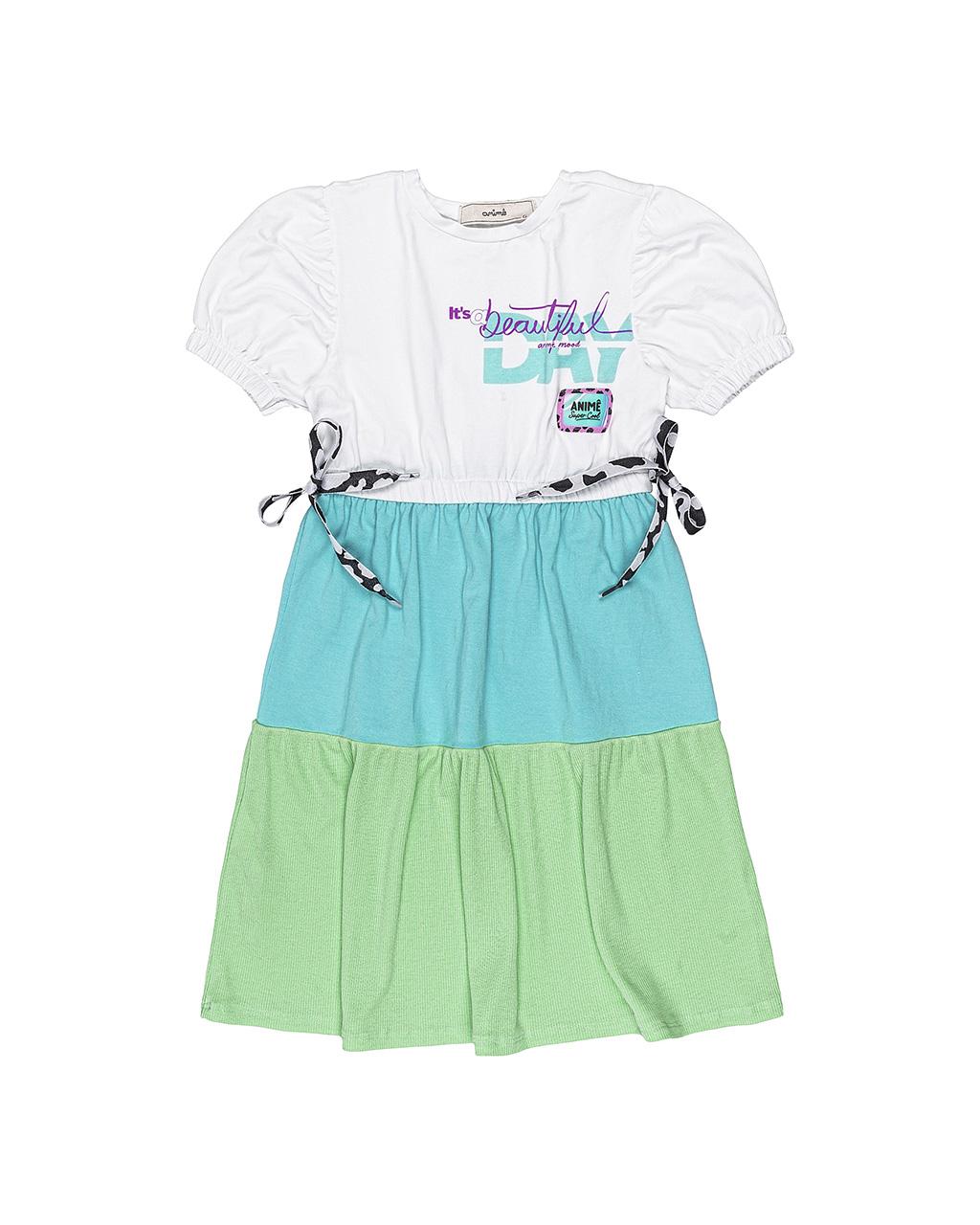 Vestido Infantil Canelado Tres Marias Animê