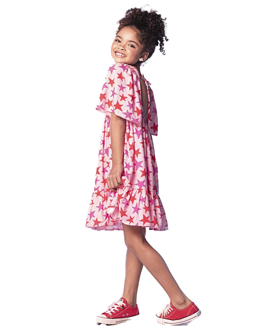 Vestido Infantil Chanel Estrelado Que Te Encante