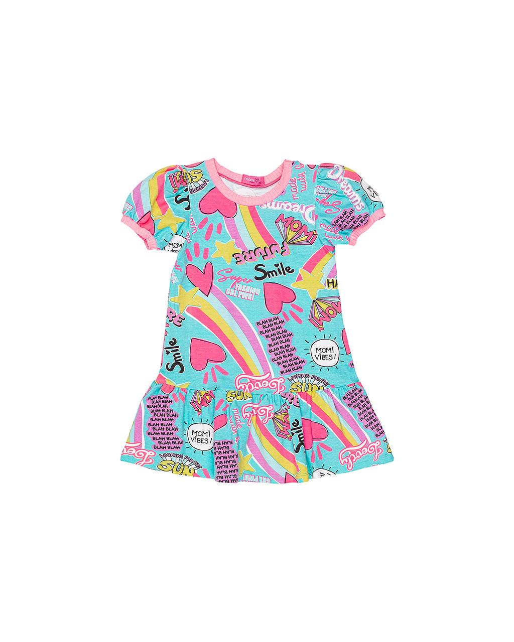 Vestido Infantil Corações Momi