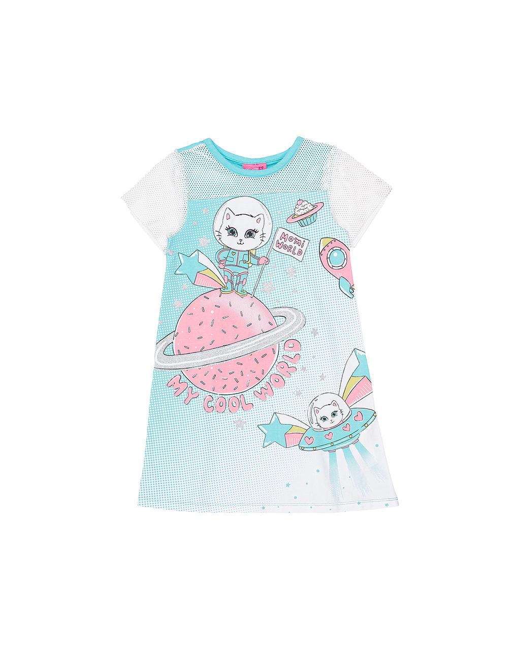 Vestido Infantil Detalhe Tela Momi