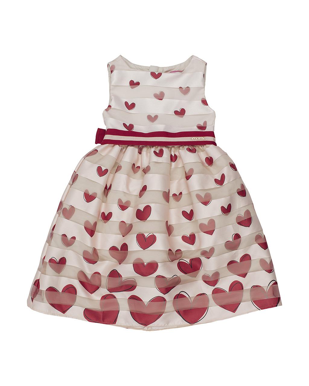 Vestido Infantil Fitado Corações Momi