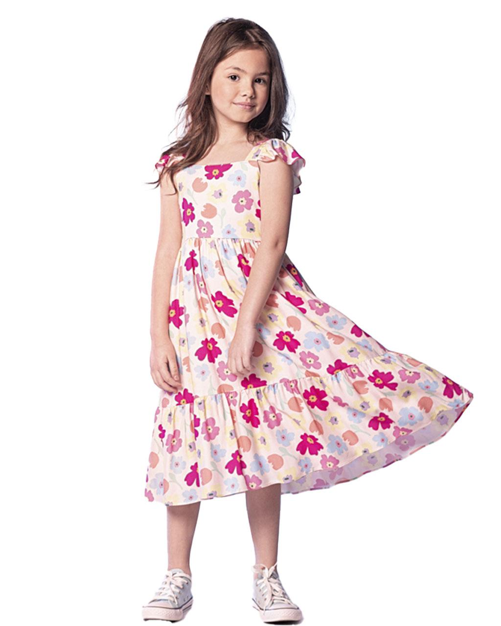 Vestido Infantil Floral Que Te Encante