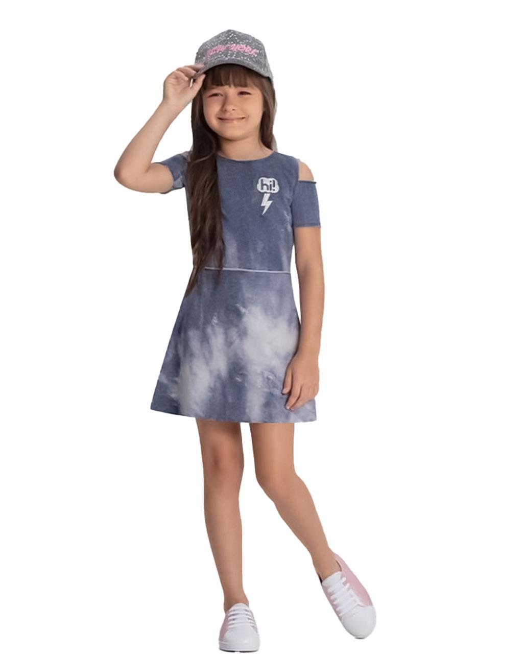 Vestido Infantil Hi Cinza Bobbylulu