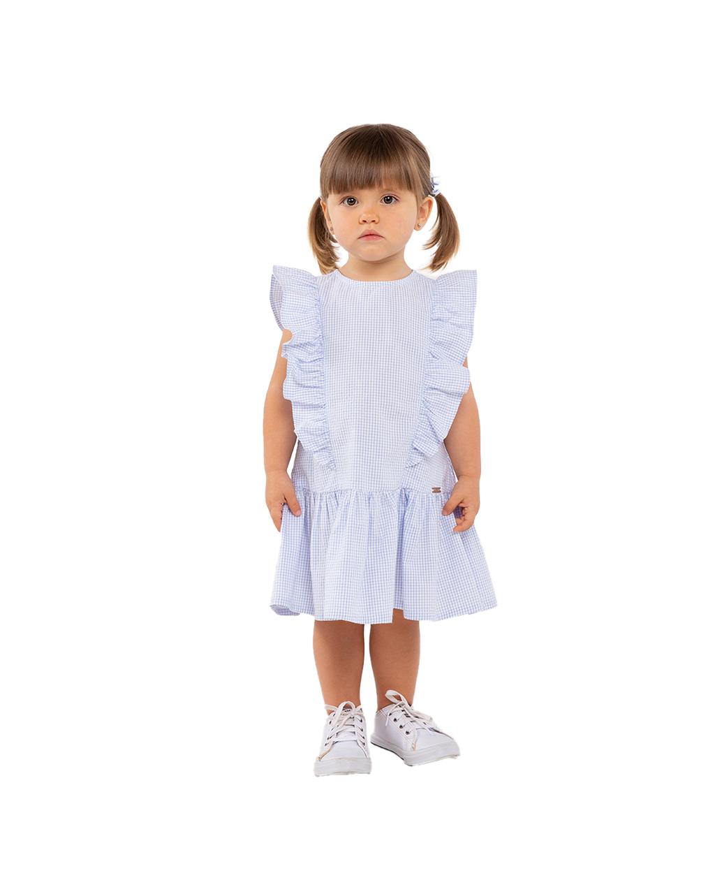 Vestido Infantil lastex Lilas Um Mais Um