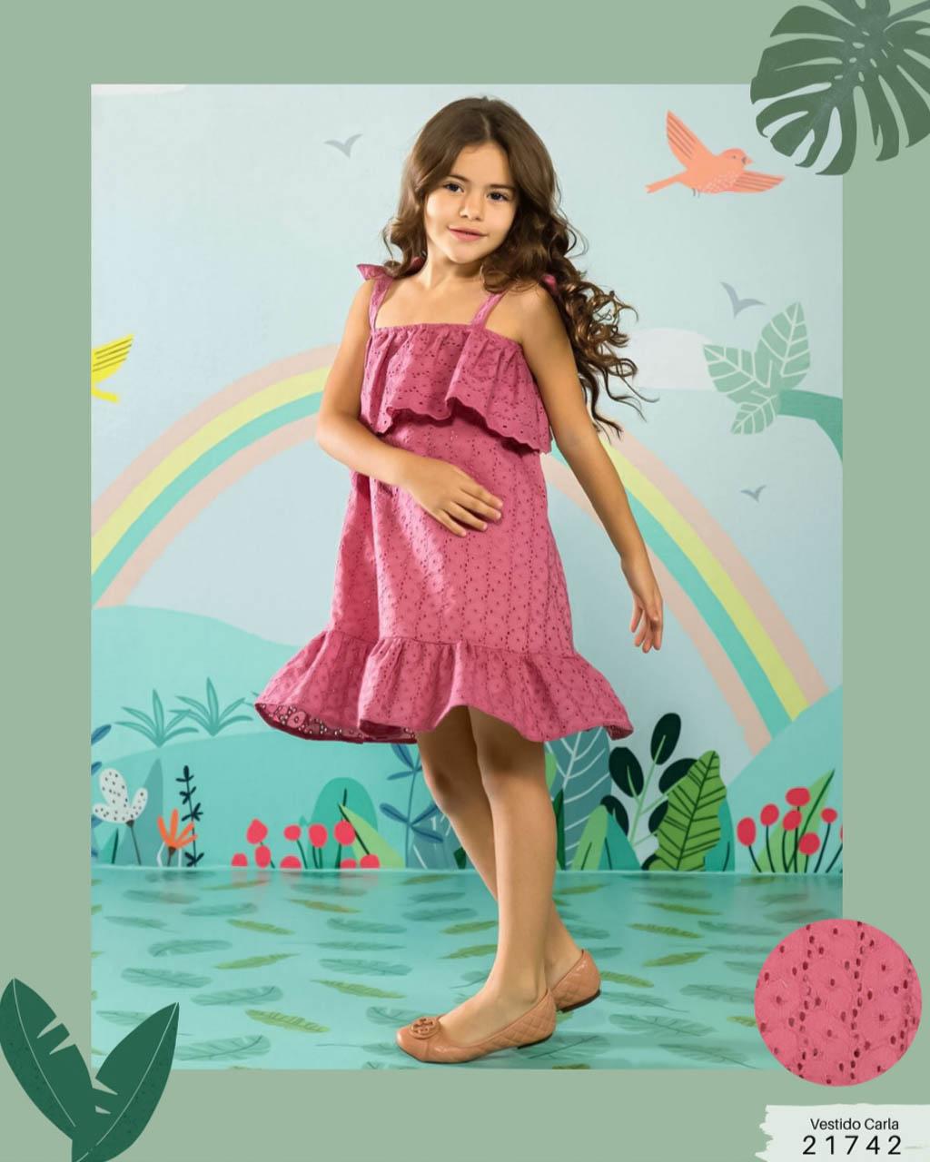 Vestido Infantil Lesie com Amarração Lumilu