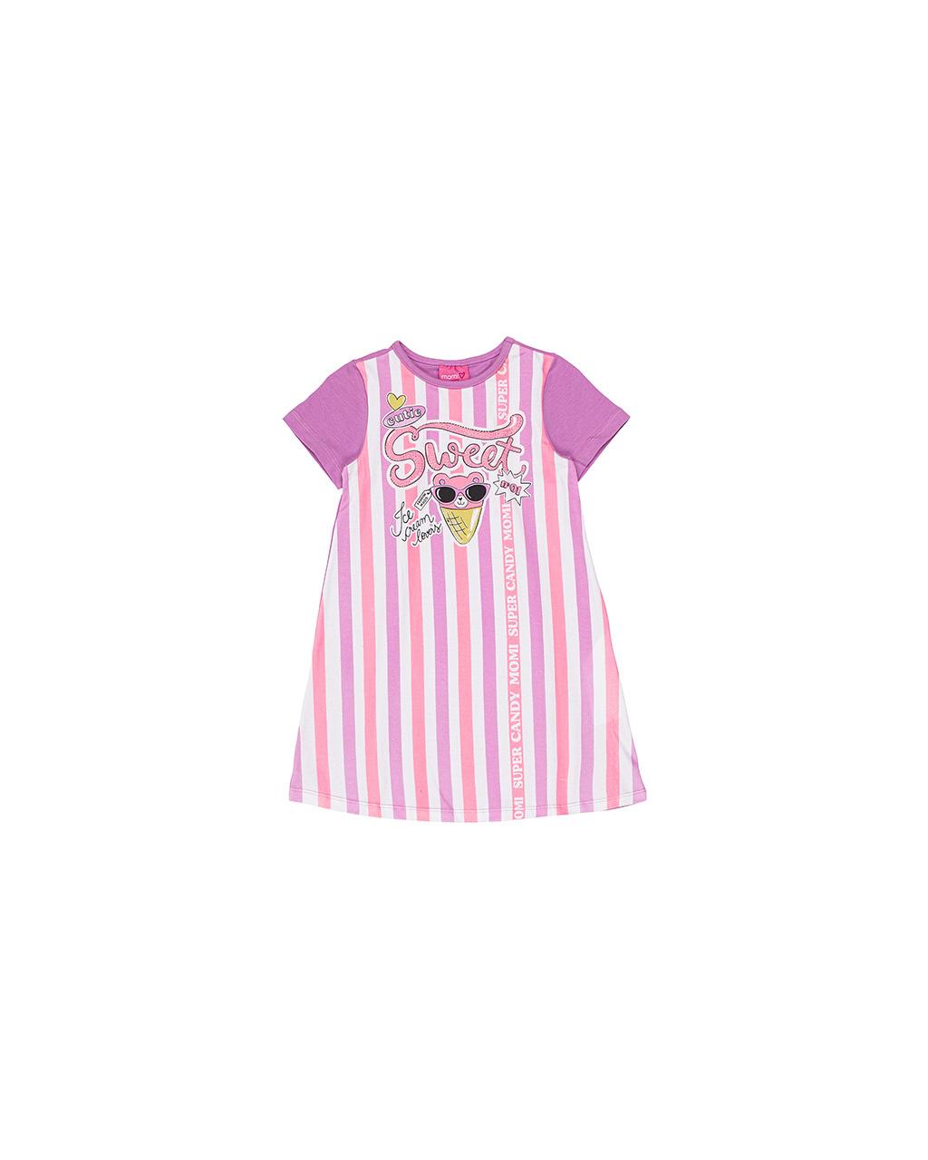 Vestido Infantil Listras Momi