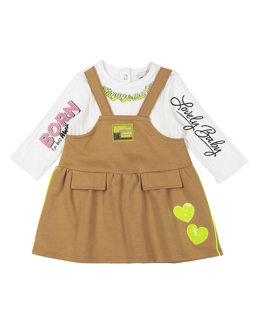 Vestido Infantil Manga Longa Caramelo Animê
