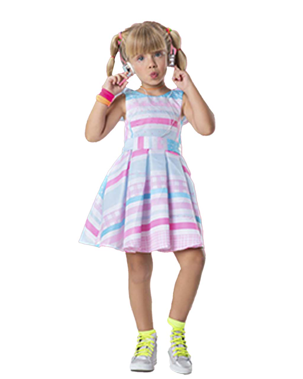 Vestido Infantil Mistura de Estampa Candy Collor Málagah