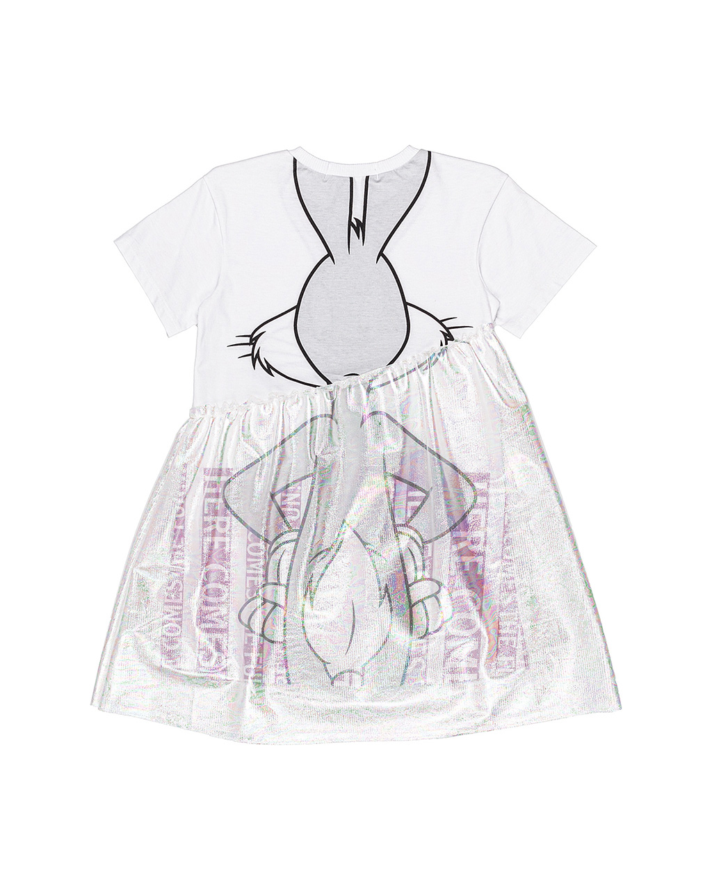 Vestido Infantil Pernalonga Holografico Animê
