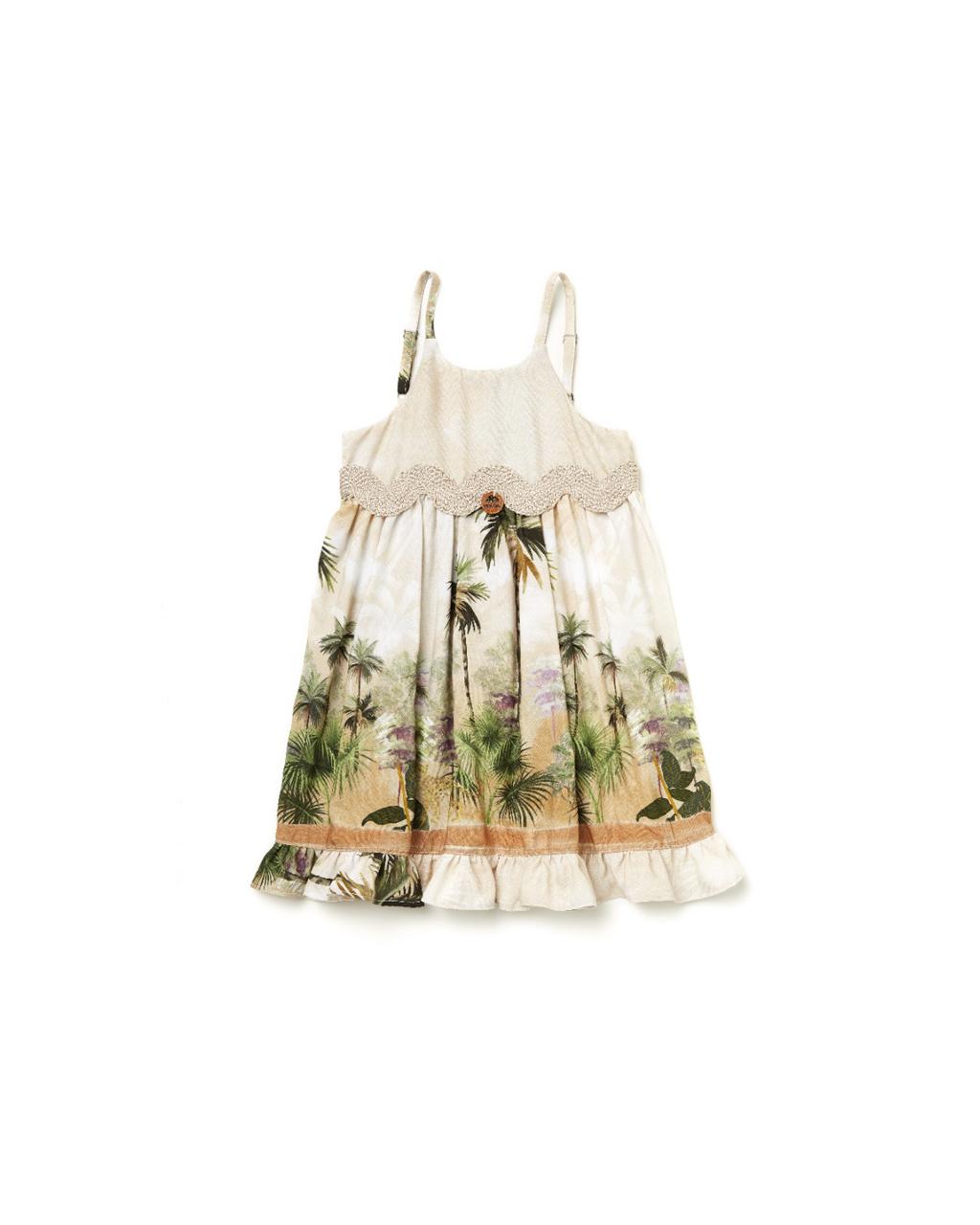 Vestido Infantil Safari Camu-Camu