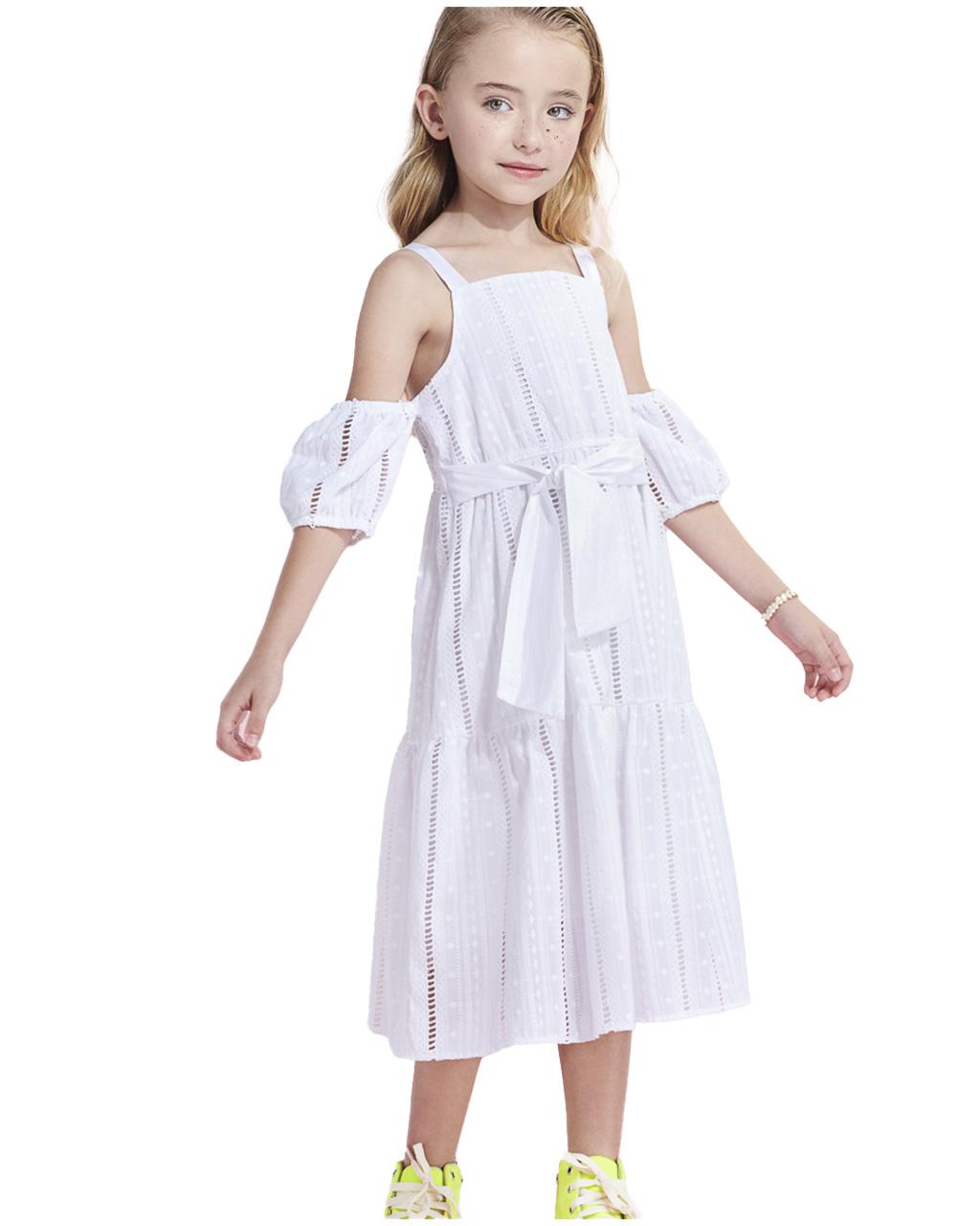 Vestido Infantil Lasie Off White Animê
