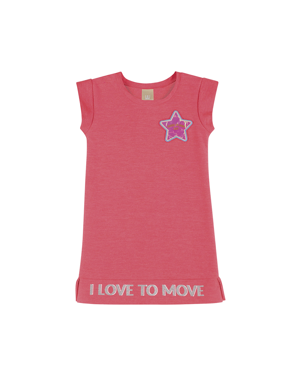 Vestido Infantil Rosa I Love To Move Colorittá