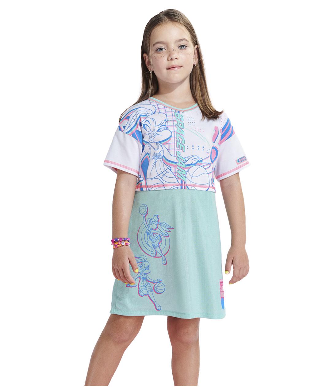 Vestido Infantil Saia com Brilho Animê