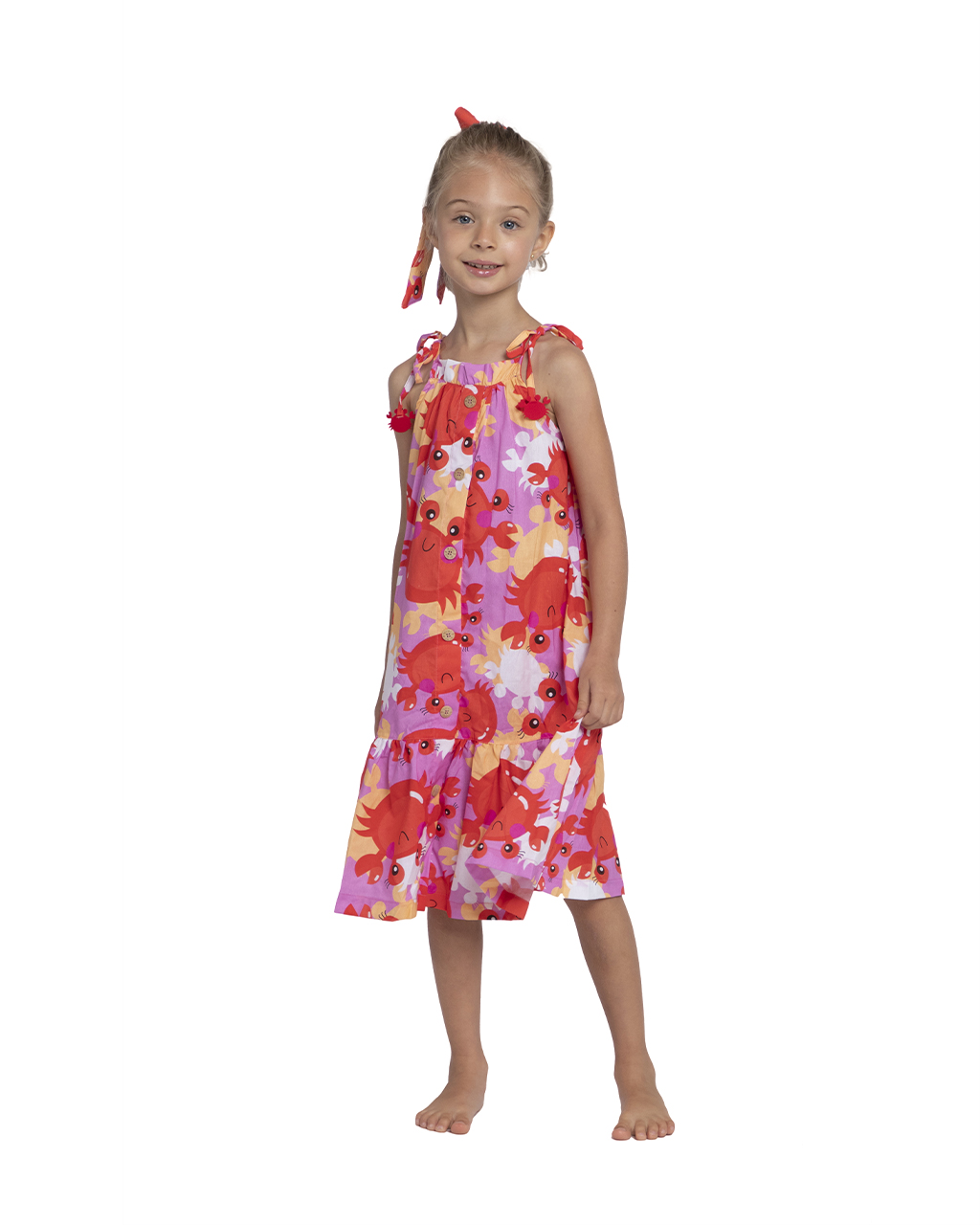 Vestido Infantil Saída de Praia Siri