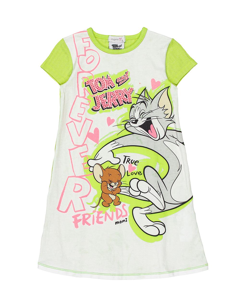 Vestido Infantil Tom And Jerry Momi
