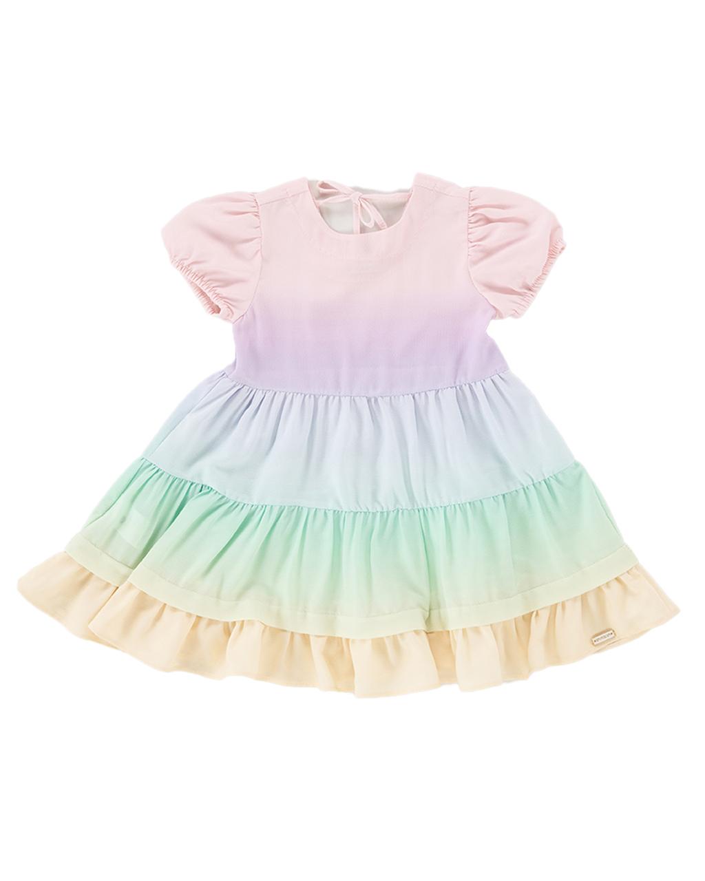 Vestido Infantil Tres Marias Recortes Coloridos Um Mais Um