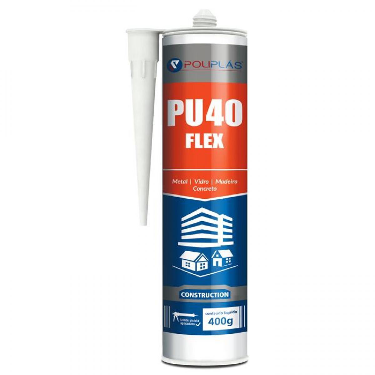Adesivo Pu 40 Flex Cinza 400g
