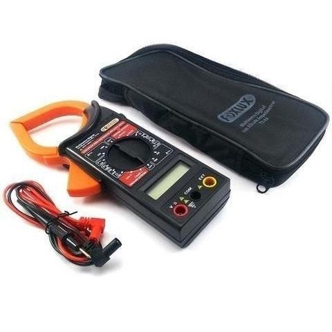 Alicate Amperimetro Digital Com Estojo Foxlux