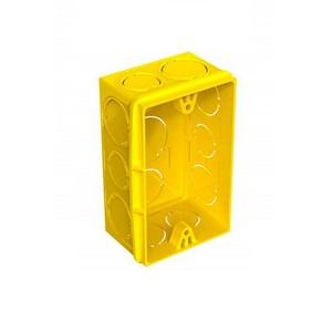 Caixa De Luz  Retangular 2x4 Interna Pvc Amarela