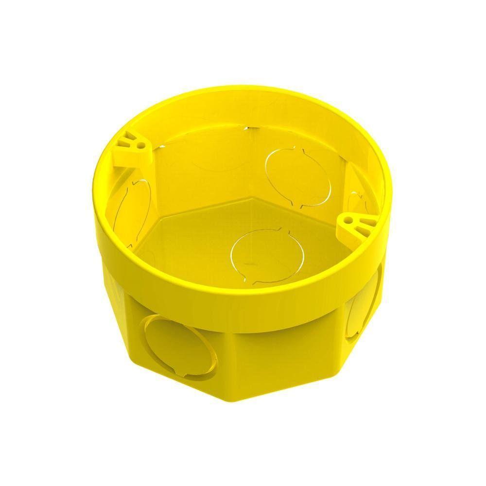 Caixa De Luz Octogonal 3x3 Interna Amarela   - A ELETRICA ONLINE