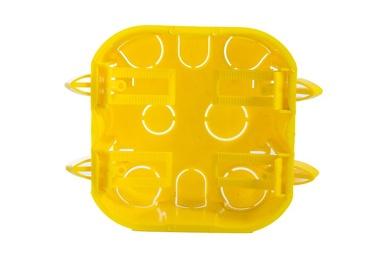 Caixa De Luz Quadrada 4x4 Gesso Amarela   - A ELETRICA ONLINE