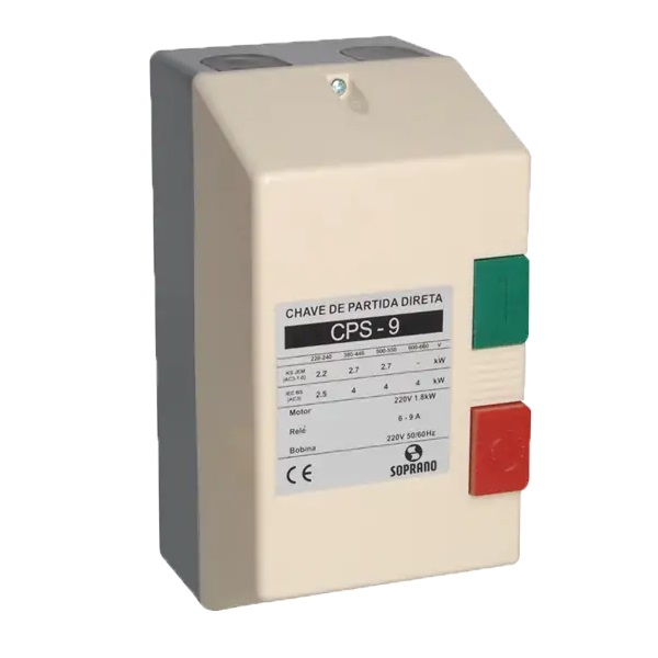 Chave Motor Cps - 09 (6,0-9,0) 380 Vac   - A ELETRICA ONLINE