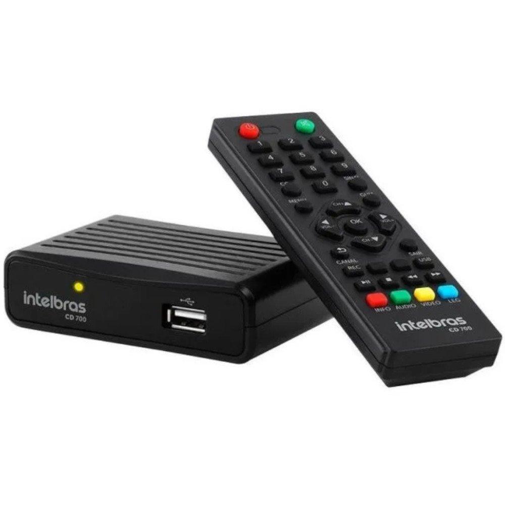Conversor Tv Digital Com Gravador Cd 700 Intelbras