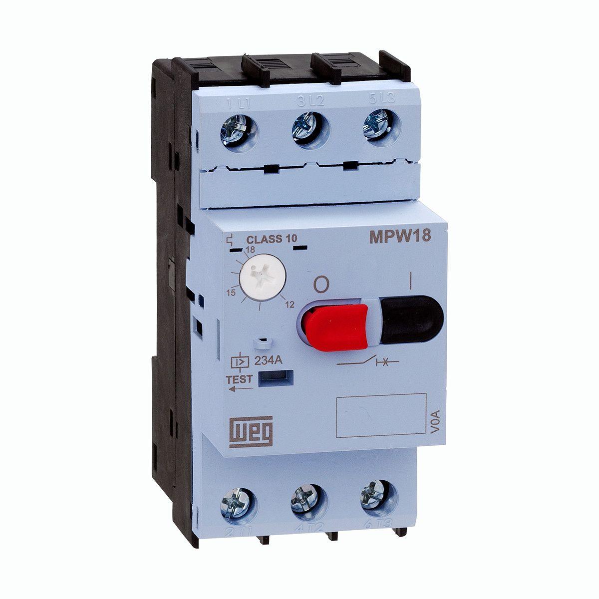 Disjuntor Motor Weg Az Mpw18-3-U016 6,3-10a