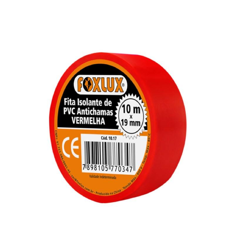 Fita Isolante 19mm X 10mt Vermelha   - A ELETRICA ONLINE