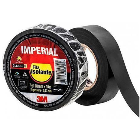 Fita Isolante 3m Imperial Slim 18mm X 10m Preta   - A ELETRICA ONLINE