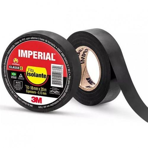 Fita Isolante 3m Imperial Slim 18mm X 20m Preta
