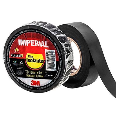 Fita Isolante 3m Imperial Slim 18mm X  5m Preta