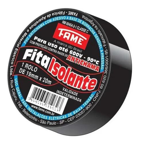 Fita Isolante Fame 19mm X 20mt Preta
