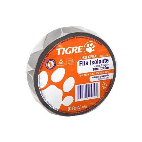 Fita Isolante Tigre Uso Geral 18mm X 10mt Preta
