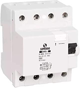 Interruptor Diferencial Residual Idr Tetrapolar 40a
