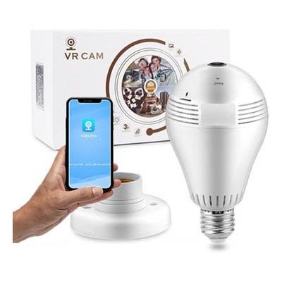 Lampada Ip Wifi Com Camera 360°