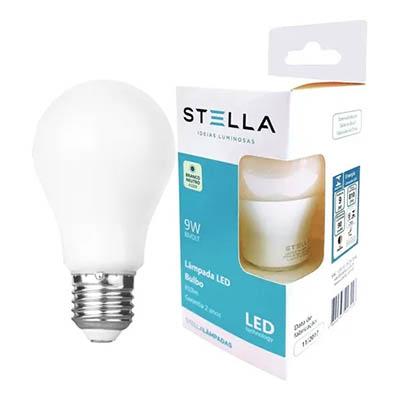 Lampada Led Bulbo A60 9w 4000k Bivolt E27 Stella Sth8265/40
