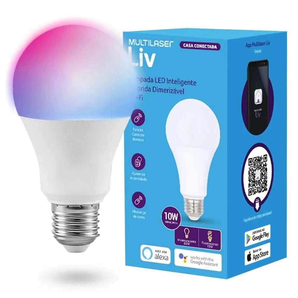 Lampada Led Inteligente Wifi 10w Multilaser Liv Se224