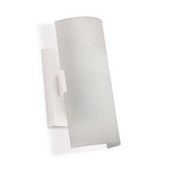 Luminaria Vidro Curvo 30cm 2xe27 Branco   - A ELETRICA ONLINE