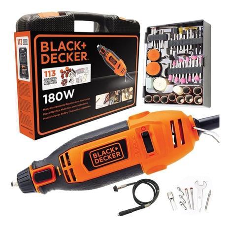 Microretifica C/Controle Torque 180w 220v Black&Decker   - A ELETRICA ONLINE