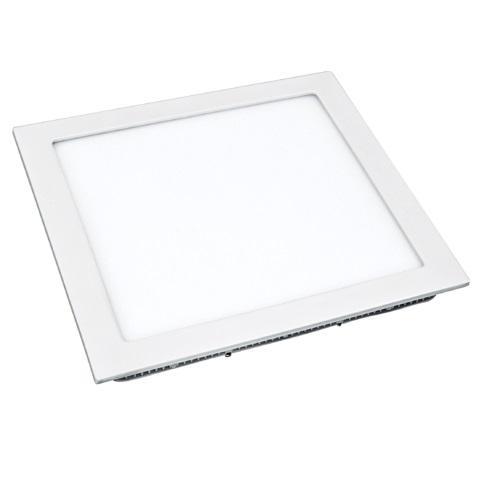 Plafon Led Flat Embutir Quadrado 24w 3000k