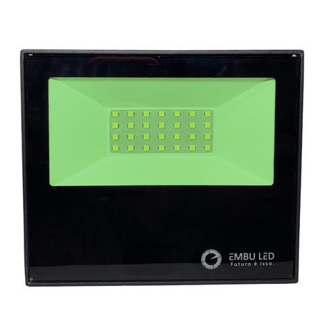 Refletor Embuled Smd Slim 30w Verde